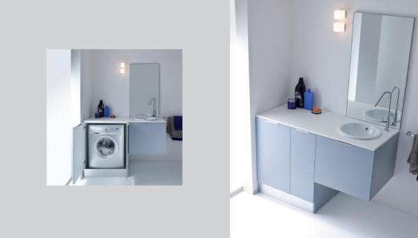 Bagno Lavanderia Piccolo : Come inserire una lavatrice in un piccolo bagno