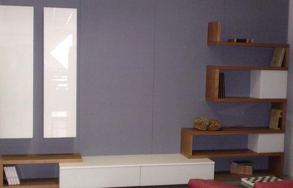 Arredamento soggiorno:BeFree, pareti attrezzate colorate in libertà